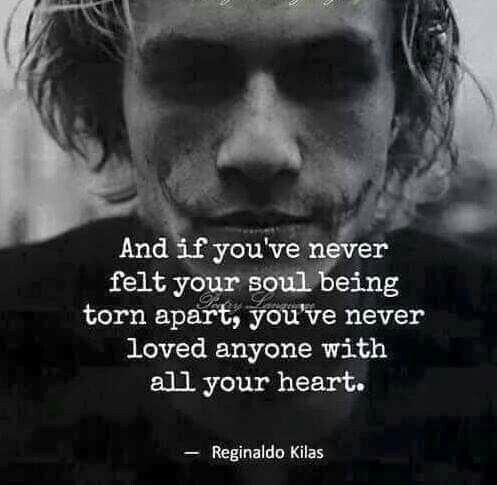 Until you've been destroyed by love. You dont know what is like to have ever truly loved. But can never love again.