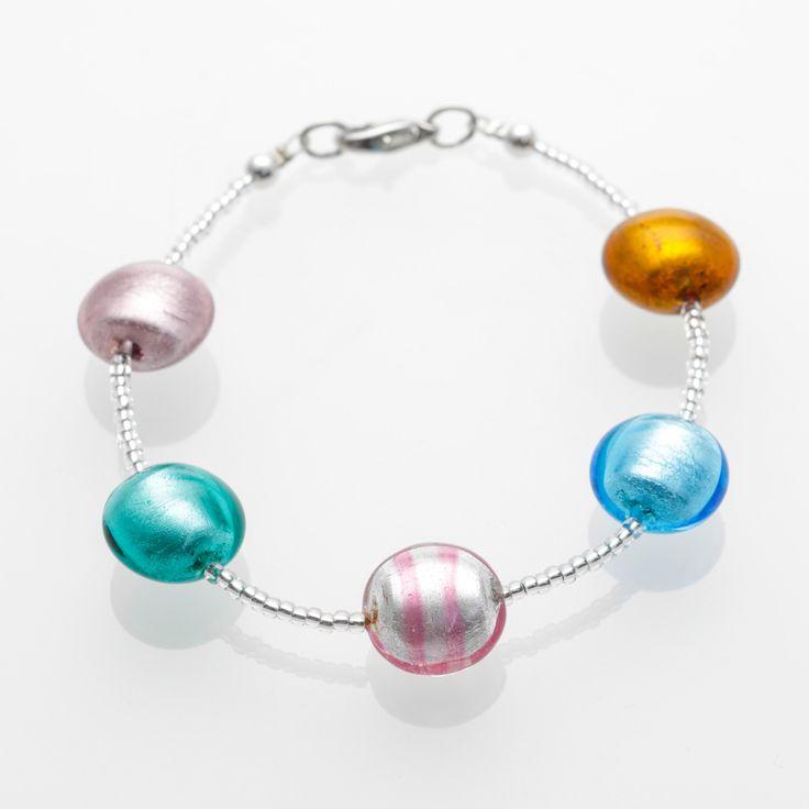 Venezia Bracelet - Venetian Murano Glass Jewellery for Australia - www.italianheart.com.au