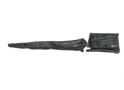 This sheath was made for a knife with a long, narrow blade.  Production Date: Medieval; late 13th-14th century ID no: 4639 - See more at: http://collections.museumoflondon.org.uk/online/object/32444.html#sthash.kUjFcDxQ.dpuf
