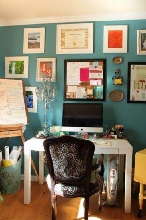 23 Beautiful Home Office Color Schemes Paint Color Ideas