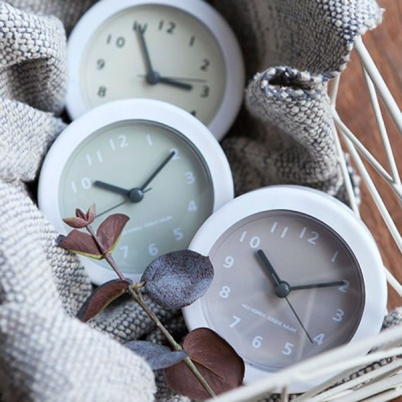 Details About New White Bath Clock Small Wall Clock Antique Clock