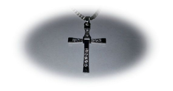 Silver men cross necklace silver cross necklace gift for