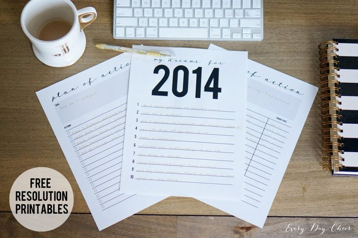 Free Resolution Printables - http://jennycollier.com/?p=11055
