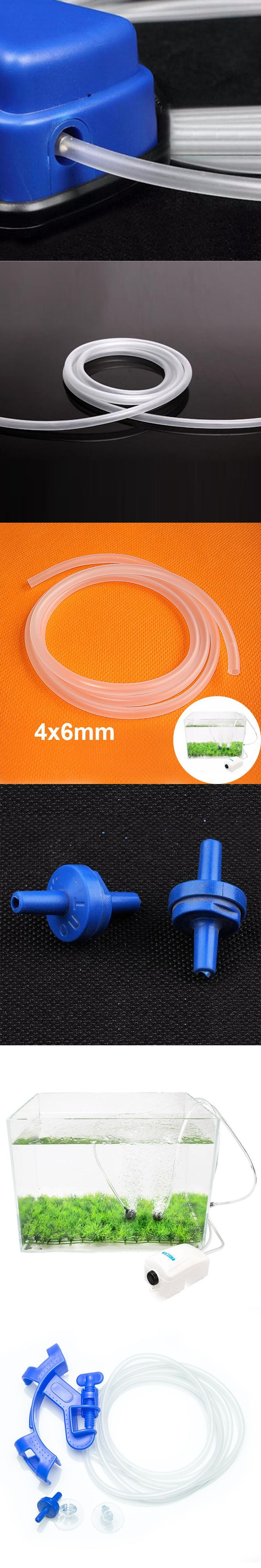 Aquarium Air Stone 4*6mm Oxygen Pump Hose for Air Bubble Fish Tank Pond Pump for Fish Aquarium decoration Accessories 3M 5M 10M