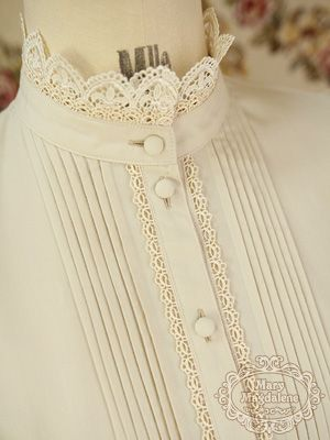 Super cute collar - I'd love to make a Version with lace as high collar piece!