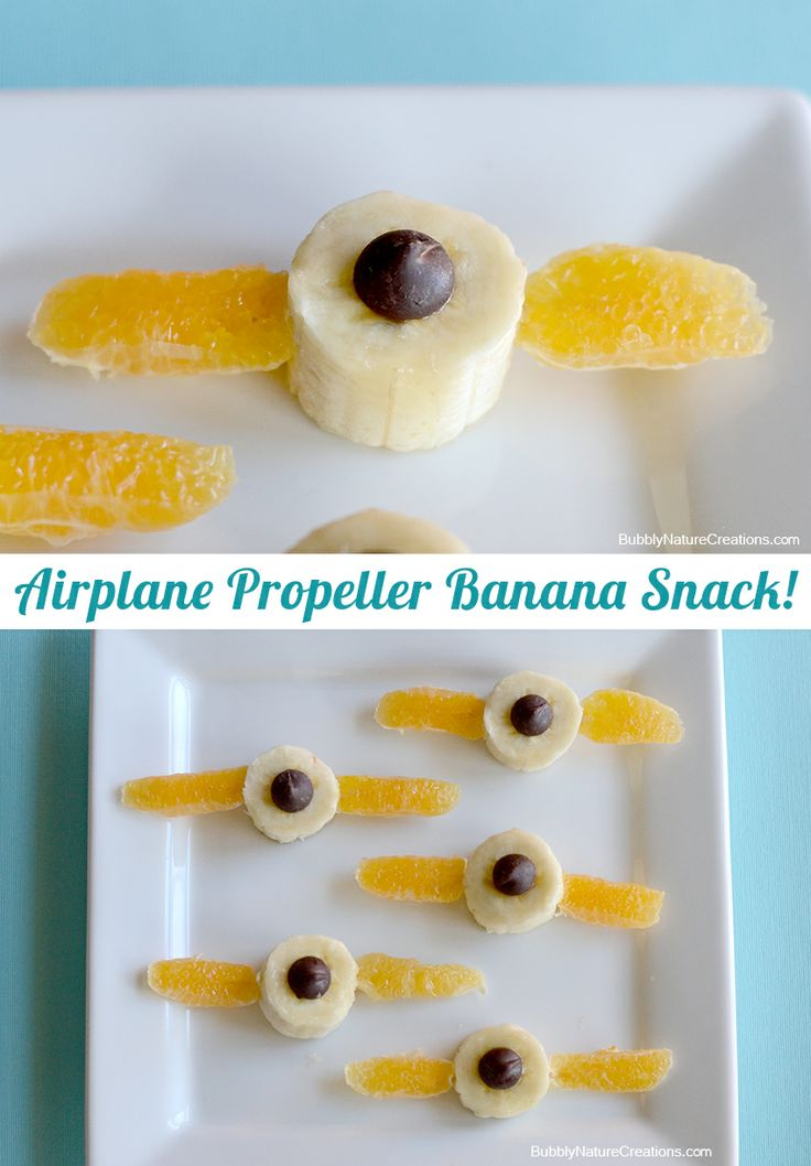 Airplane Propeller Banana Snack
