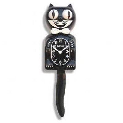 Kit-Cat Black Clock