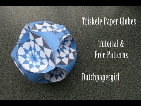 Triskele Paper Globes - tutorial - free patterns - dutchpapergirl. Link download: http://www.getlinkyoutube.com/watch?v=u2-X2-GM9kc