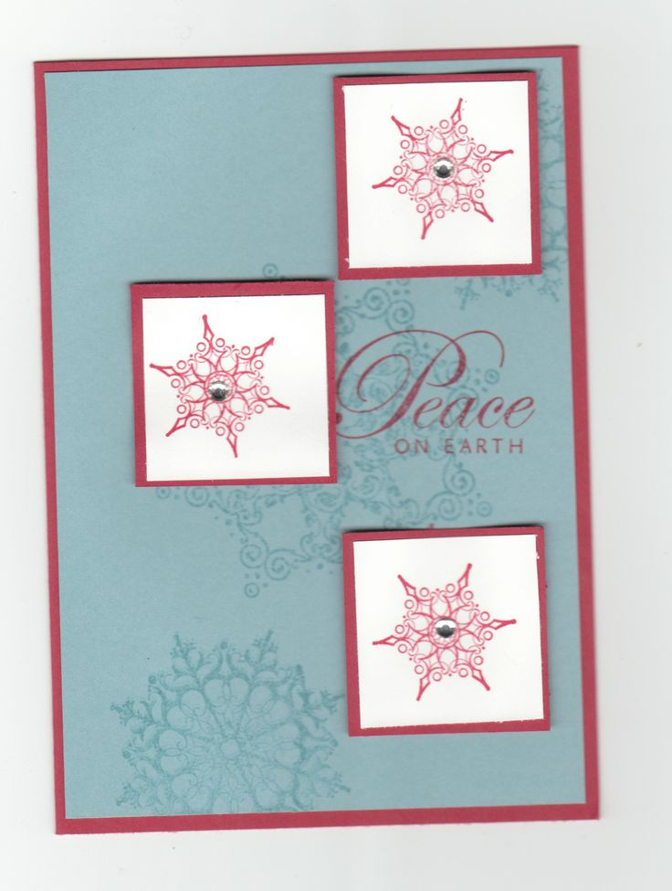 I like the elegant design of this card, and the background snowflakes give it an extra something.