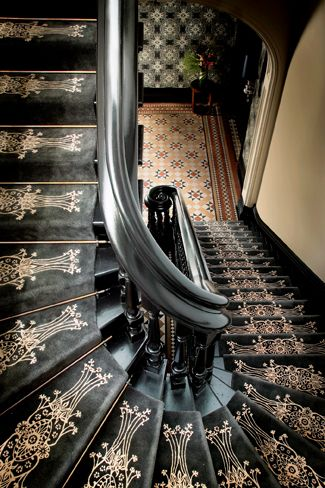 beautiful custom interior stairways. Lace Stair Runner By Catherine Martin For Designer Rugs - See More In Spotlight On Australian Designers Beautiful Custom Interior Stairways