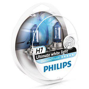 Pack 2 ampoules H7 Diamond Vision Philips: L'équivalent le plus proche de HID Xenon, ampoules Philips Diamond Vision offre une lumière…