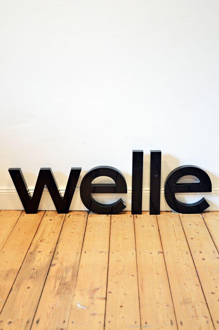 Vintage Buchstaben, Letters, Reklame, Leuchtreklame, Typografie, Neon, Maritim, Welle, Deko, Dekoration