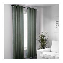 """IKEA - SANELA, Curtains, 1 pair, 55x98 """", , The thick curtains darken the room and provide privacy by preventing people outside from seeing into the room.Cotton velvet gives depth to the color and is soft to the touch.The eyelet heading allows you to hang the curtains directly on a curtain rod.Effective at keeping out both drafts in the winter and heat in the summer."""