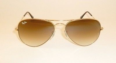 Ray-Ban Aviator Sunglasses Best Classics Gold Frame Brown Lens