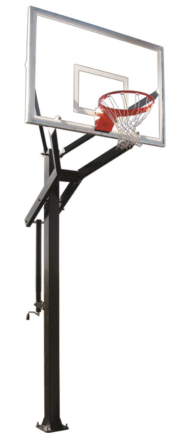 First Team Powerhouse 560 In Ground Outdoor Adjustable Basketball Hoop 60 inch Tempered Glass from NJ Swingsets