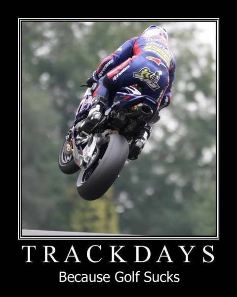 Golf would be better... if it were motorcycle racing.