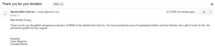 The Louisiana Modified Dolls raised a grand total of $8,566 for the Ukulele Kids Club Inc..! This is by far the largest amount our #Louisiana dolls have ever #fundraised and this is the biggest single #donation the #UKC has ever received! Thank you to EVERYONE who participated and made this event huge success! <3 #ModifiedDolls #NonProfit #SupportingCharities #UkuleleKidsClub