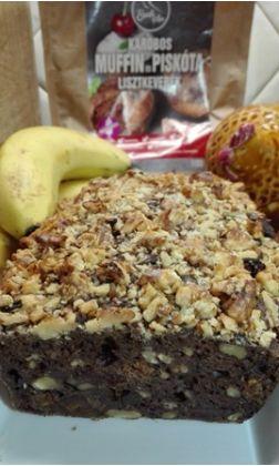 Banánkenyér Szafi Free karobos muffin lisztkeverékből