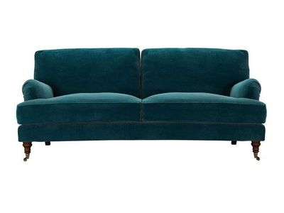 bluebell three seat sofa in deep turquoise pure cotton matt velvet - https://www.sofa.com/shop/sofas/bluebell/customize/size/130/fabric/CMVTUR/