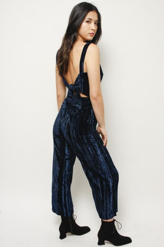 6d10270c0d0 Petra Velvet Jumpsuit The perfect classic crushed velvet jumpsuit.  Featuring viscose poly spandex