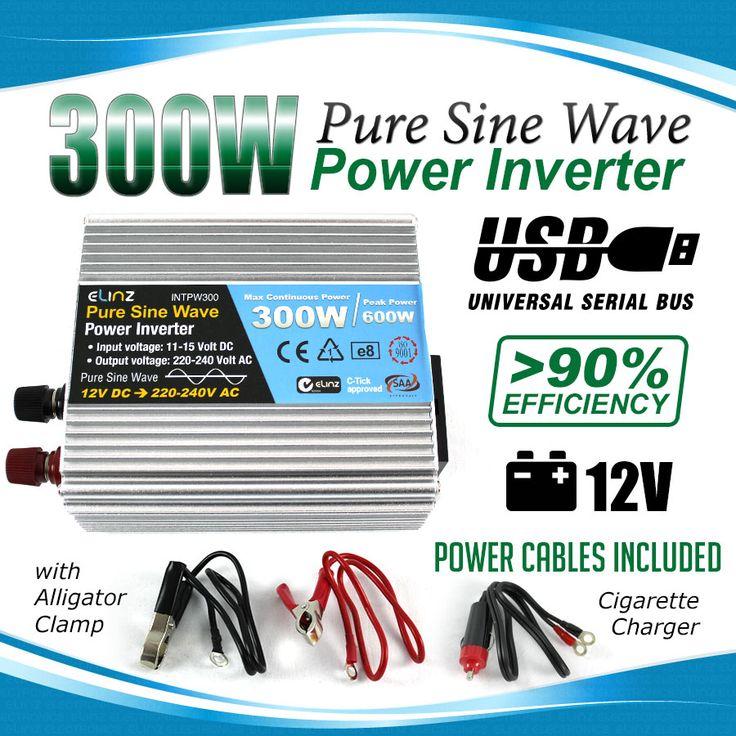 300w / 600w Pure Sine Wave Power Inverter 12v - 240v AUS plug Car Boat Caravan