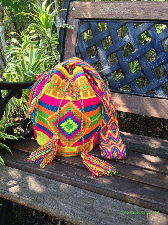 Authentic Wayuu Bags Wayuu Mochilas Handmade by by loveandlucky, $120.00