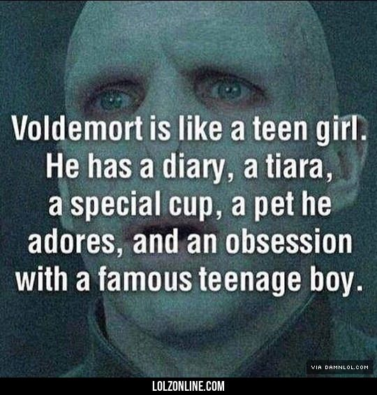 Voldemort's Fandom Obsession#funny #lol #lolzonline