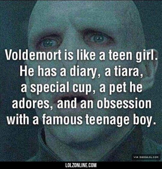 Voldemort's Fandom Obsession#funny #lol #lolzonline