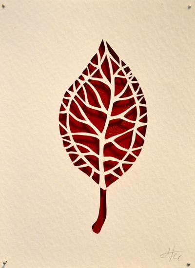 cut paper leaf - Google Search