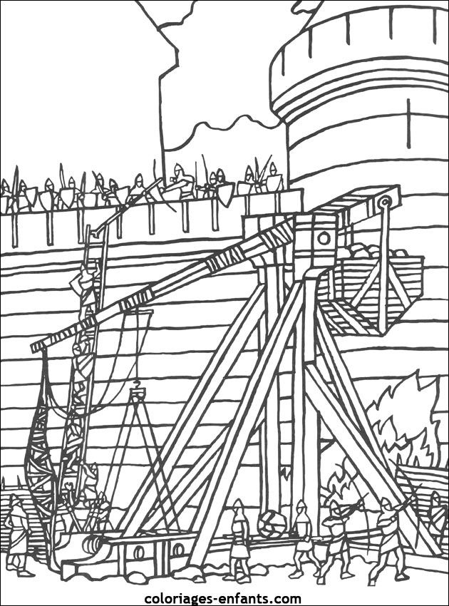 Les 191 meilleures images du tableau coloriage chateau fort sur pinterest coloriage chateau - Image du moyen age a imprimer ...