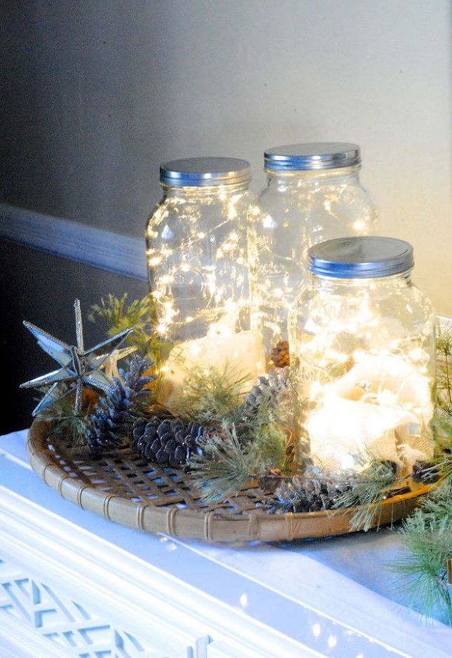 Use this holiday home decor DIY project to make a set of fairy light jars.