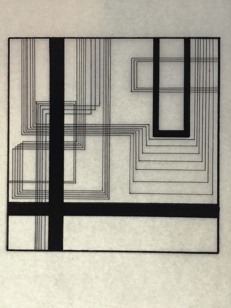 Straight lines composition