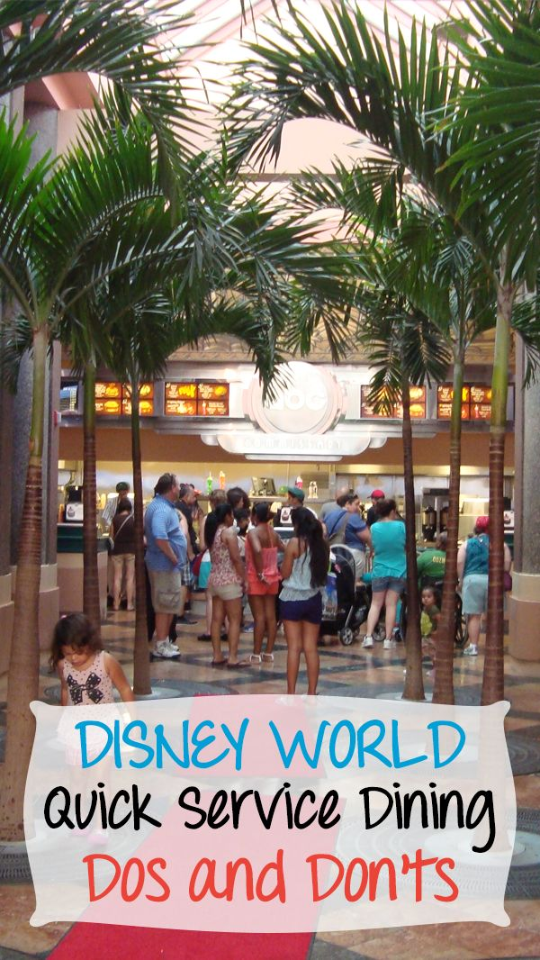 Learn all the Dos and Don'ts of Walt Disney World's Quick Service Dining