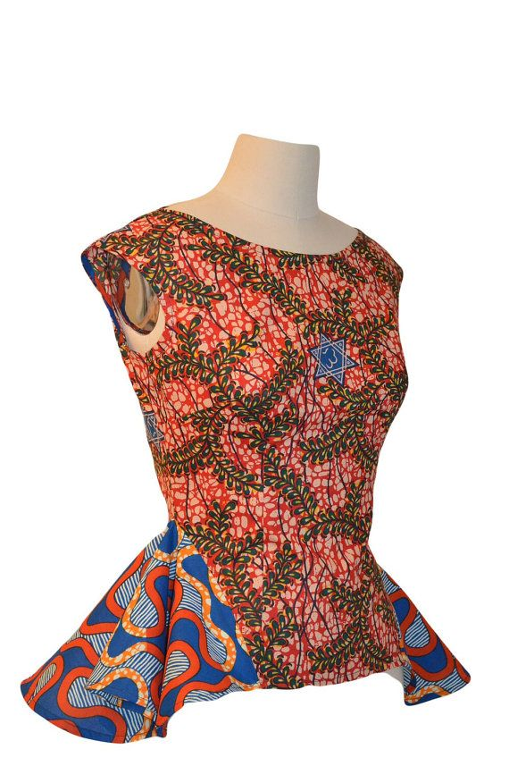 African print stylish top by Rahyma on Etsy, $65.00