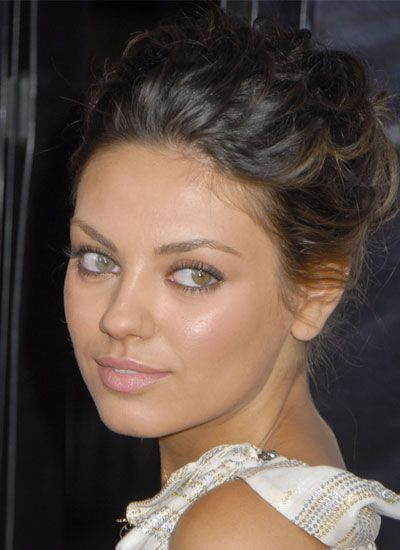 Mila Kunis - blind in one eye for a time from iris inflammation that left her with cataracts. (different coloured eyes)