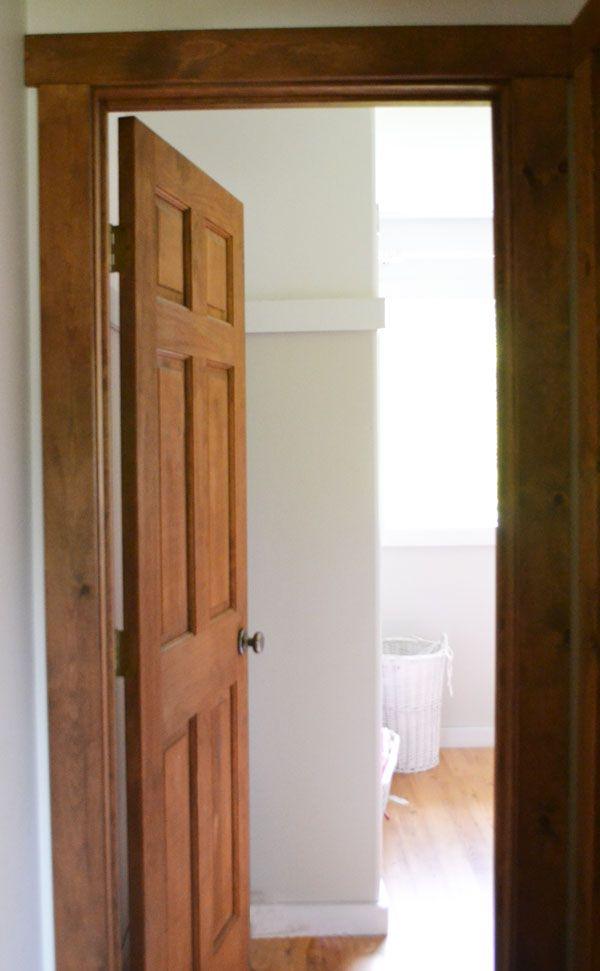 Stained Wood Interior Doors White Trim