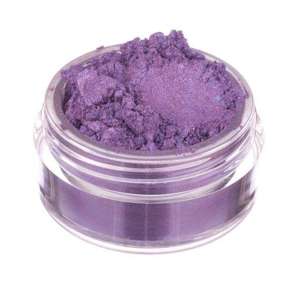 fard à paupières en poudre Fuseaux. Duochrome aubergine chaud aux reflets lilas pervenche.