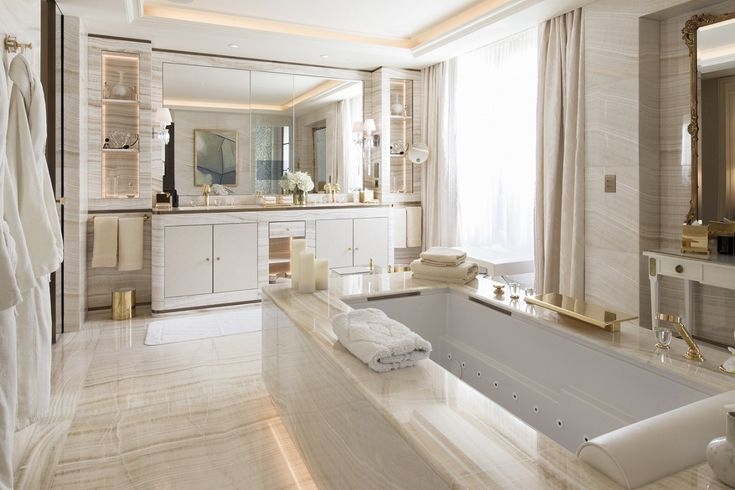 Click and see some ideas about bathroom suites in termin(ART)ors.com. These ideas hopefully give you inspirations before re-designing your bathroom. :)  The picture we use as a PIN here is from: http://www.cpp-luxury.com/four-seasons-hotel-george-v-unveils-renovated-royal-and-presidential-suites/