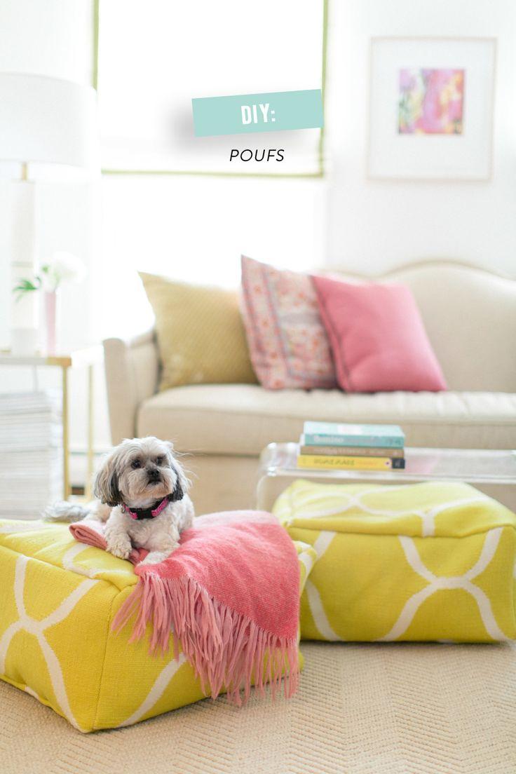 DIY: floor poufs