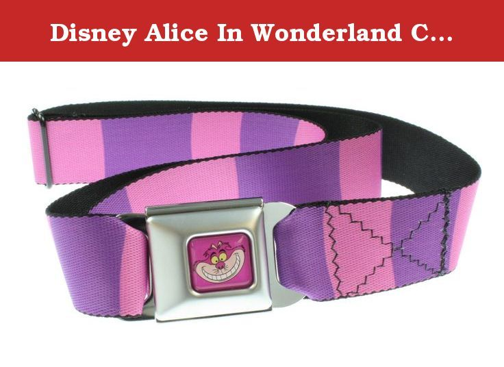 Disney Alice In Wonderland Cheshire Cat Seat Belt Belt. Buckle-Down brand seat belt belt with Cheshire Cat design and an authentic automotive style seat belt buckle.
