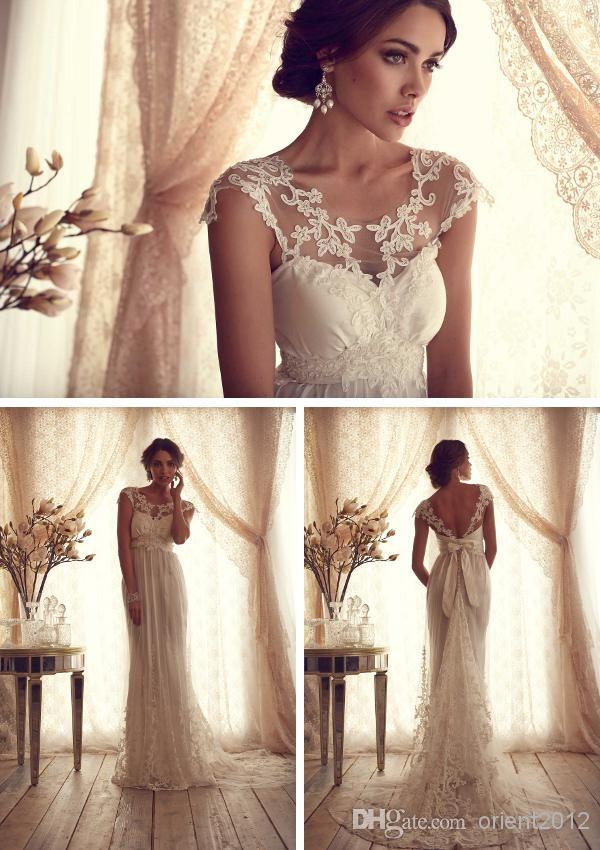 Wholesale Sheath Wedding Dresses - Buy Custom Made Hot Sexy Sheath Wedding Dresses Gowns Dress Appliques Scoop Floor-Length Bride Dresses Charming Bridal Dresses Gowns Dress, $138.0   DHgate