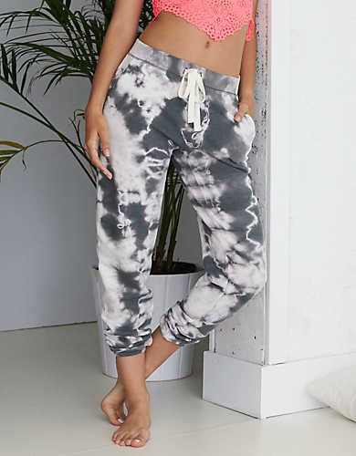 Aerie Tie Dye Jogger, Stone | Aerie for American Eagle