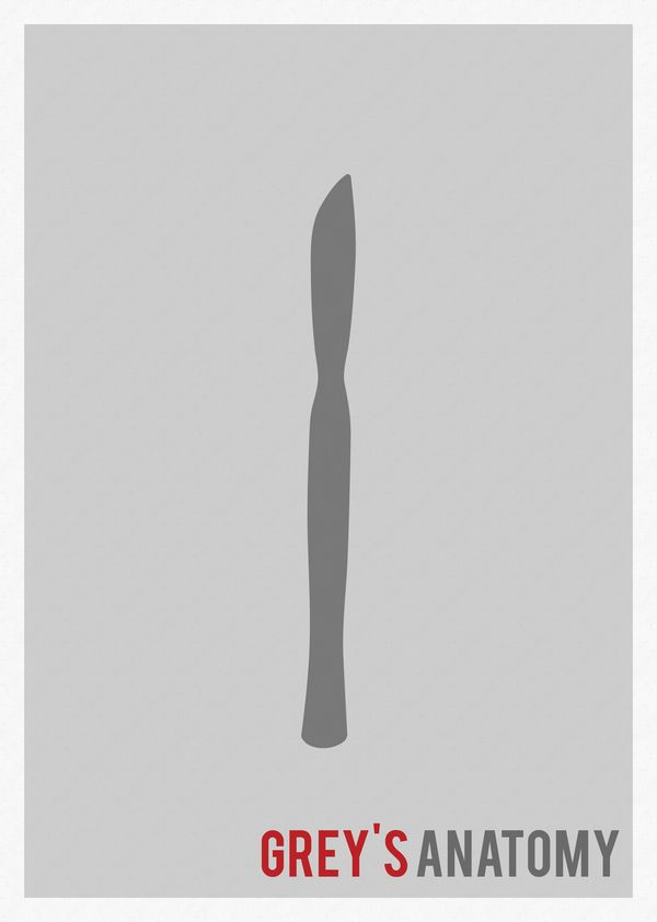 Grey's Anatomy (2005–) ~ Minimal TV Series Poster by Marisa Passos #amusementphile