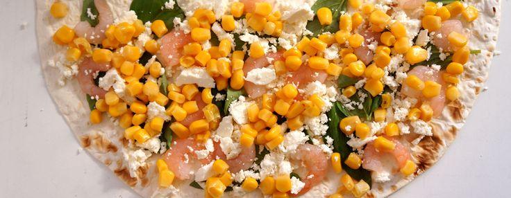 Рецепти, що надихають: Трикутники з лаваша з креветками  #рецепт