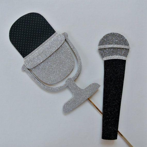 Cantanti di microfono microfono Vintage strumento Photo Booth Prop centrotavola tabella decorazione karaoke