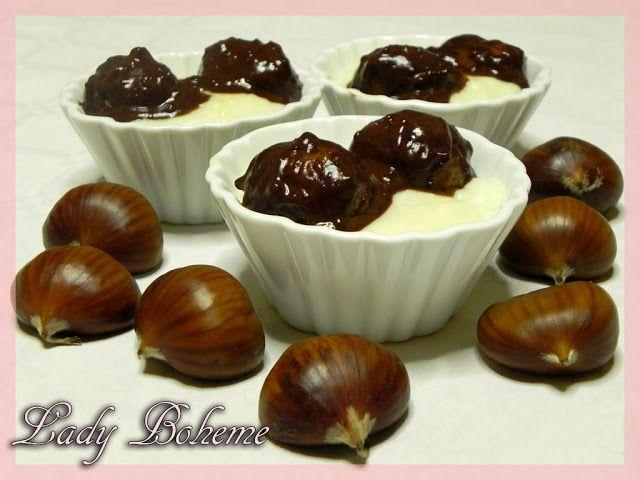 Castagne al cioccolato con crema alla ricotta