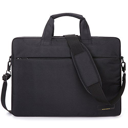BRINCH 156 Inch Oxford Fabric Lightweight Laptop Shoulder Case Messenger Bag For 15  156 Inch Laptop  Notebook  MacBook  Chromebook Computers with Shoulder Strap Handle and Pockets Black ** Want to know more, click on the image.