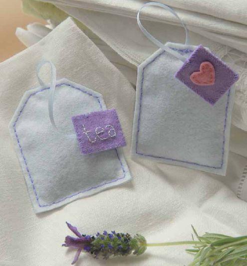 Lavender sachets that look like sweet tea bags