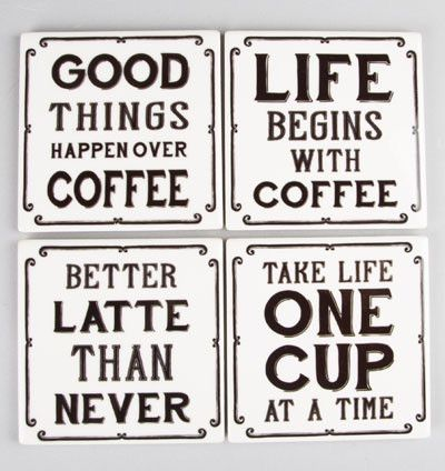 Coffee Sayings Coasters