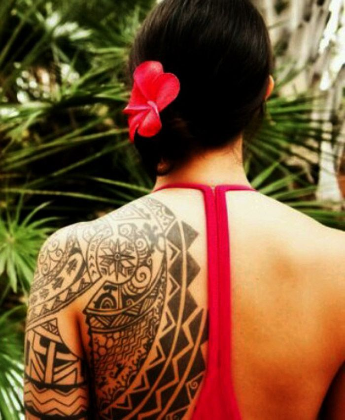 Tribal Tattoo Meanings For Women #Polynesiantattoos